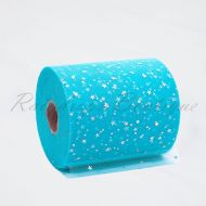 Turquoise Sequin Star Tulle Roll